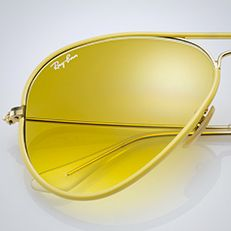 ray ban yellow aviator sunglasses  ray ban rb3025 aviator classic sunglasses