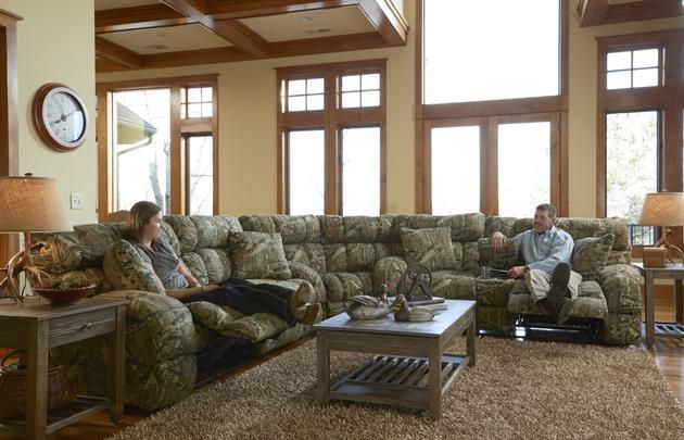 Duck Dynasty Appalachian 3pc Reclining Sectional Sofa with ...