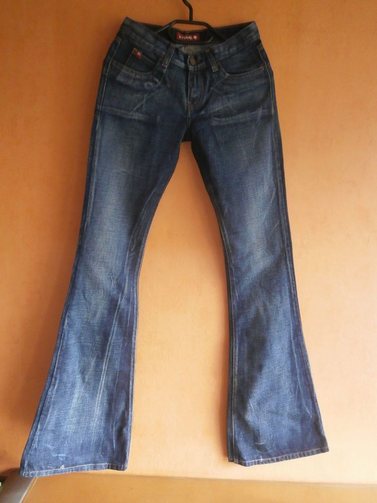 1 Killah Jeans Schlaghose Kleidung Hippie Goa neu Hose