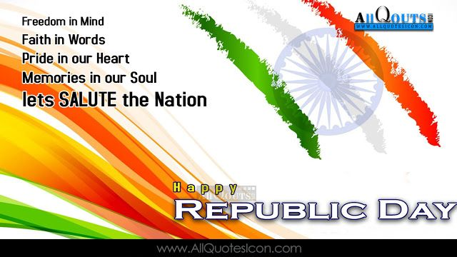 Republic Day Wishes English Quotes HD Wallpapers India