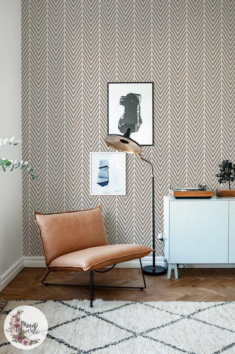 Latte Herringbone Removable Wallpaper Simple Wall Mural Geometric Wall Decor Peel And Stick Reusable Removable Repositionable Maf167 Geometric Wall Decor Removable Wallpaper Elegant Living Room Decor