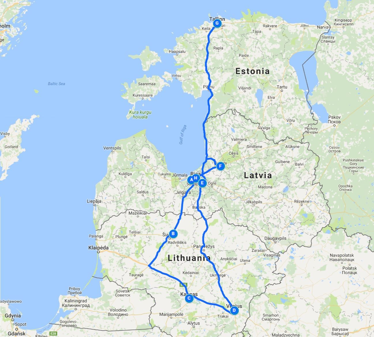 Our Baltic Route With Images Road Trip Itinerary Trip Road