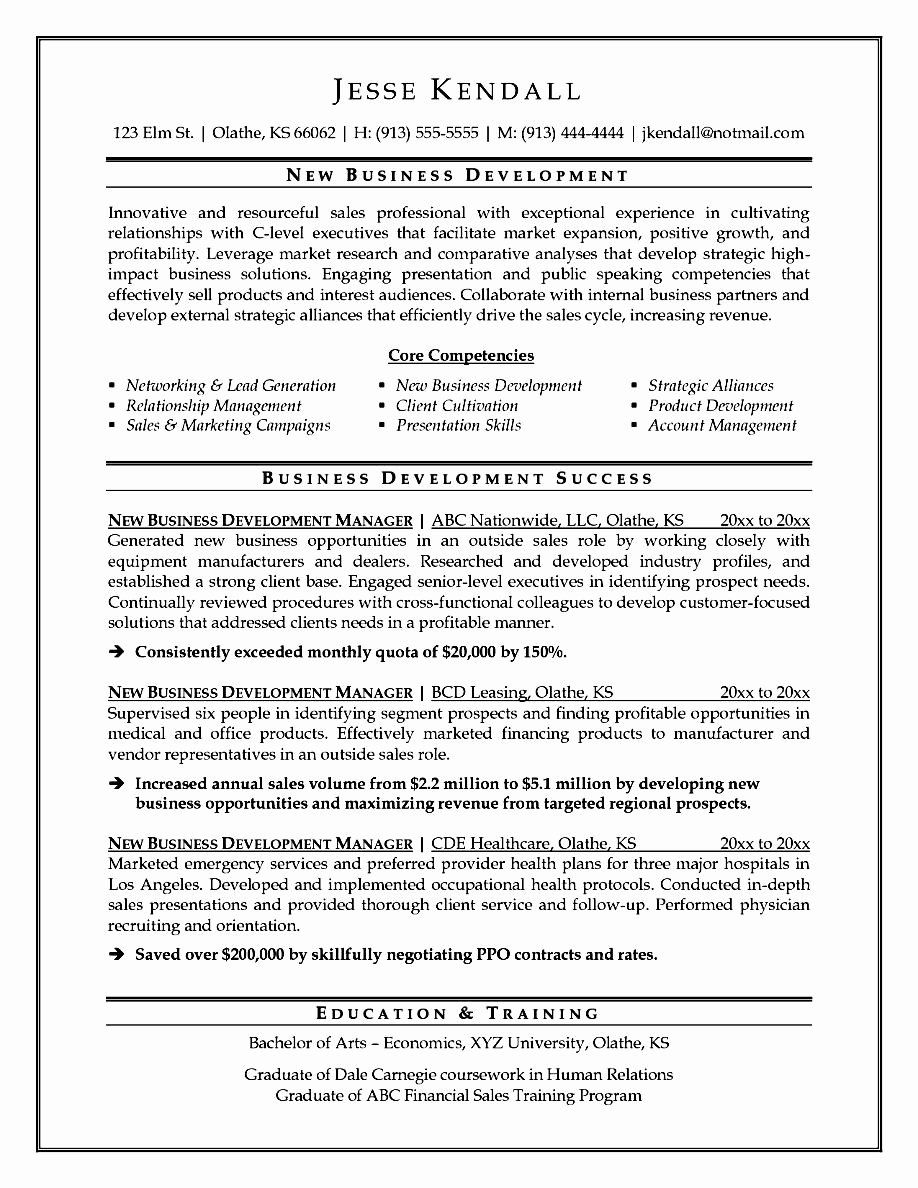 Business Development Executive Resume Best Of Resume