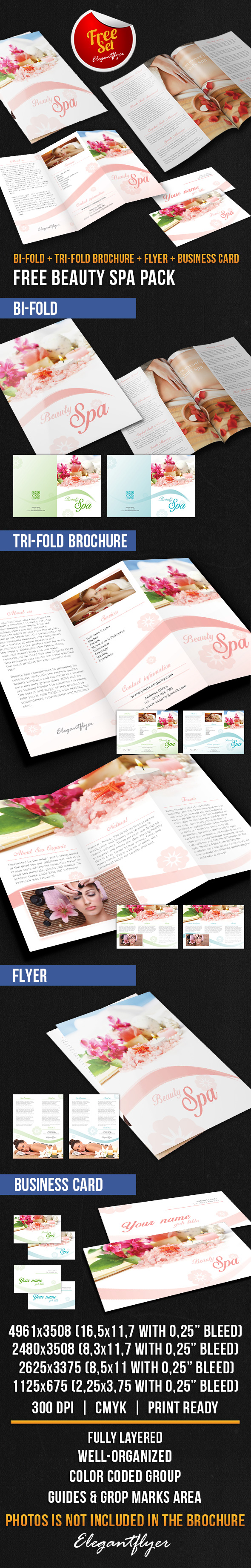 Beauty Spa Brochure Pack Free PSD Template Brochure Template - Free spa brochure templates