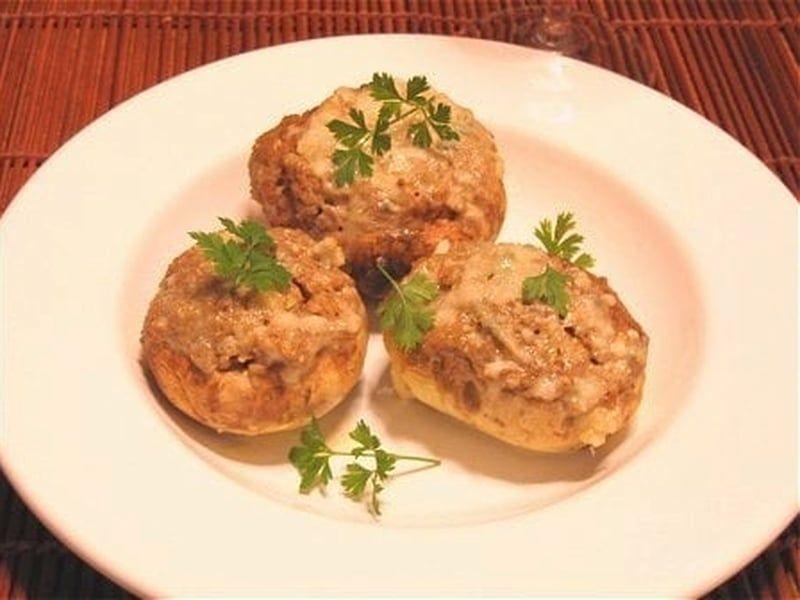 Recette de Champignons farcis et crème de gorgonzola : la recette facile