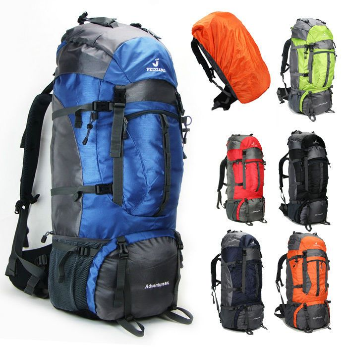 UK Large Waterproof Rucksack Hiking Camping Bag Travel Backpack Outdoor Luggage