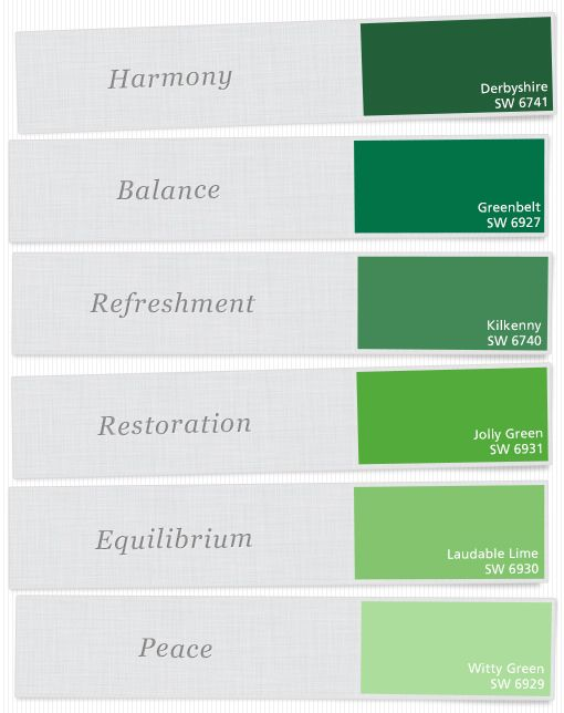 Just a few of our favorite green paint colors for Show me the color green