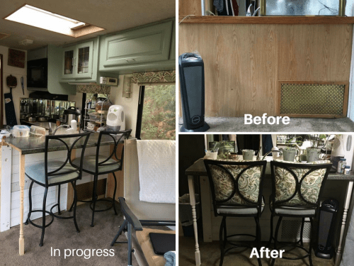 rv owners who replaced their dining booth pinterest dining booth