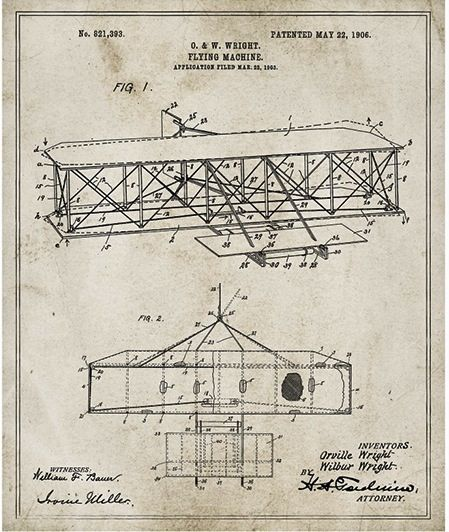 Famous inventions showcased in stylish vintage blueprints modern famous inventions showcased in stylish vintage blueprints modern vintage and patent drawing malvernweather Choice Image