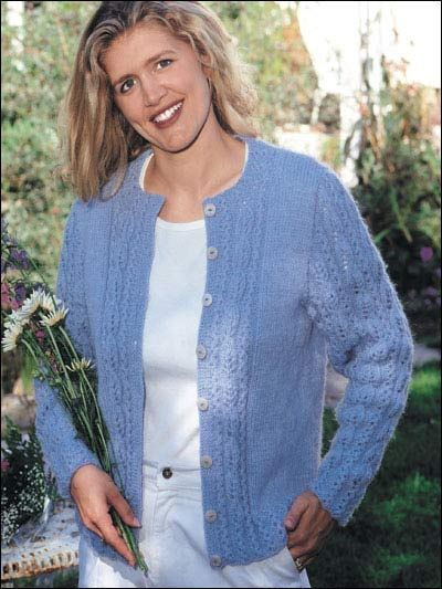 Knit Clothing - Cardigan & Jacket Knitting Patterns - Hyancinth Leaf Card...