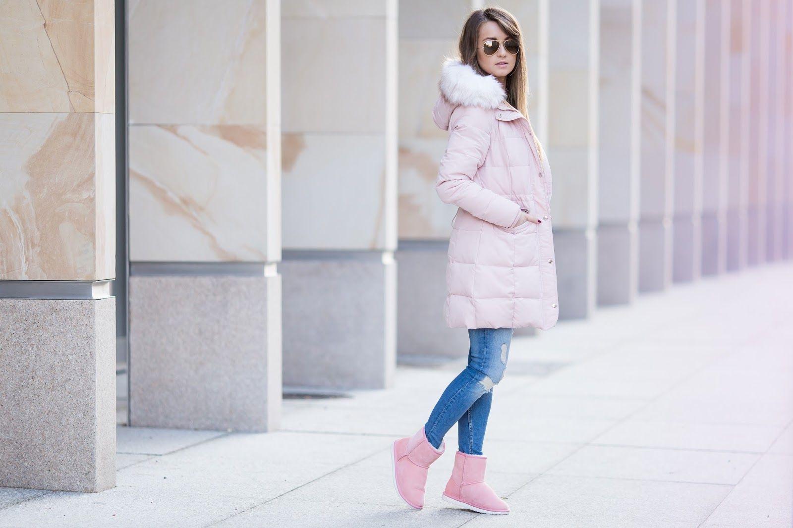Pudrowa Kurtka Zimowa Pink Winter Coat Pink Winter Coat Fashion Winter Jackets