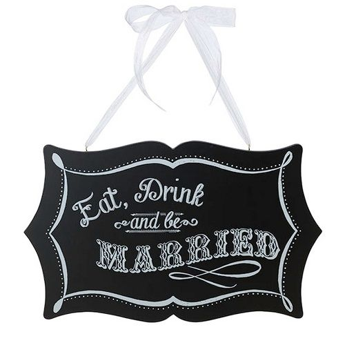 Vintage Chalkboard Sign for Wedding Reception | #exclusivelyweddings