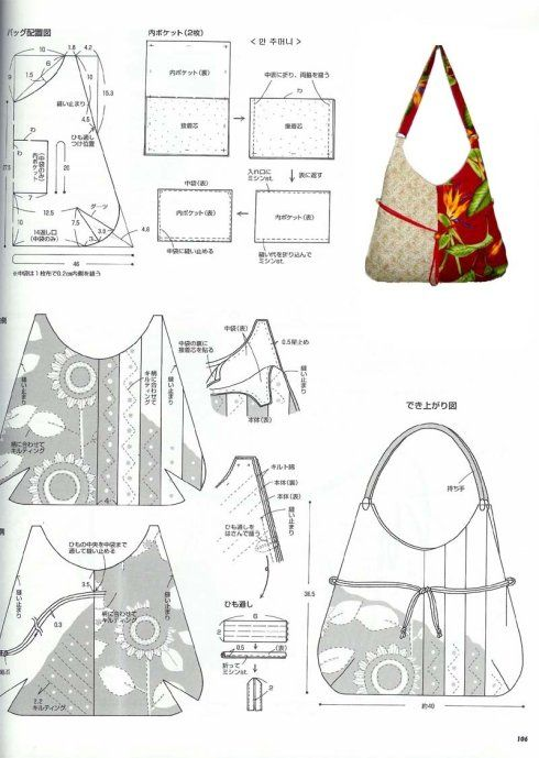 Bag pattern | Purses & Tote Bags | Pinterest | Bolsos, Costura y ...