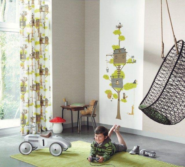Stunning Mit farblich abgestimmten Kinderstoffe Bord ren und Tapeten zeigt sich eine gelungene Kinderzimmergestaltung Interessante Wohnideen f r Kinderzimmer