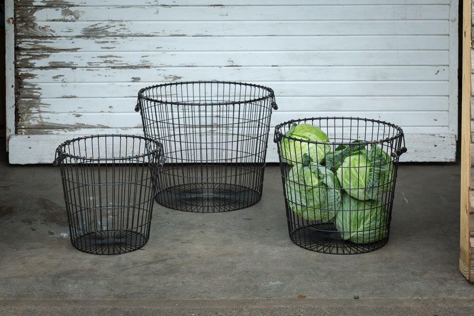 Antique Wire Bushel Baskets | House ideas | Pinterest | Bushel ...