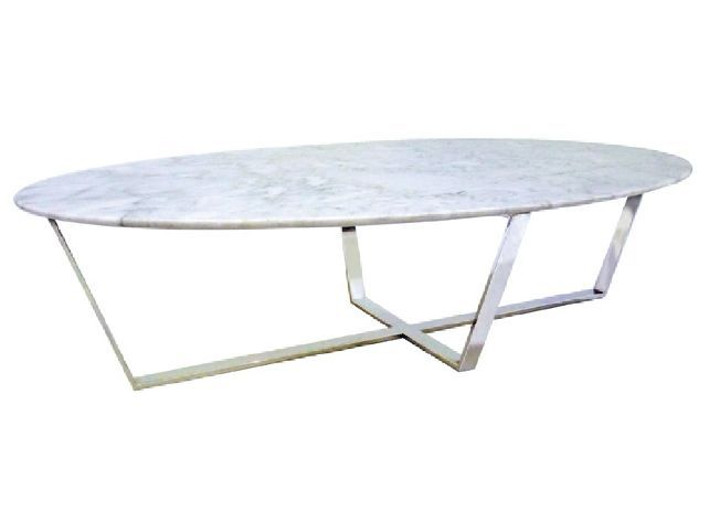 Verona White Oval Marble Coffee Table More