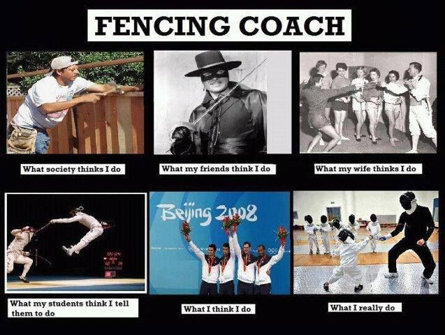 Fencing coach -- esp what us students are expected to do!