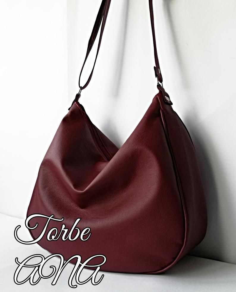 eef407a2f3 Women red bag Red hobo bag Hobo purse Hobo bag purse Vegan
