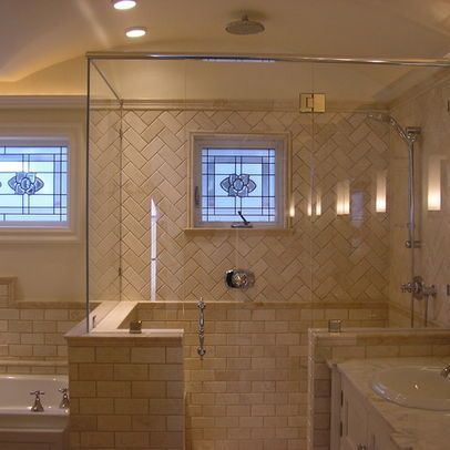 bathroom half wall design, pictures, remodel, decor and