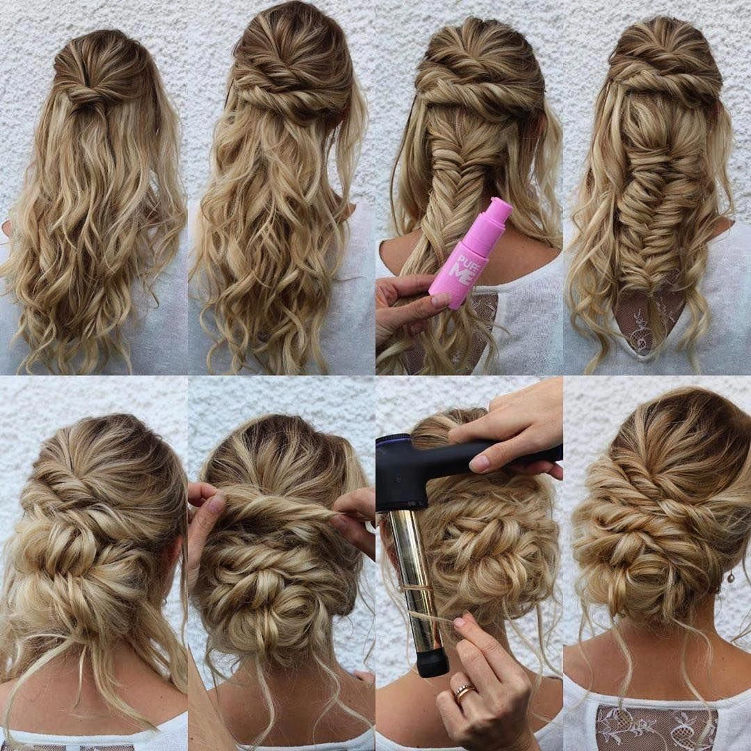 Saloncentric On Instagram Let Me See You 1 2 Braid Gorgeous Grid Layout From Theupdogirl Who Used The In 2020 Hair Updos Tutorials Hair Styles Updo Tutorial