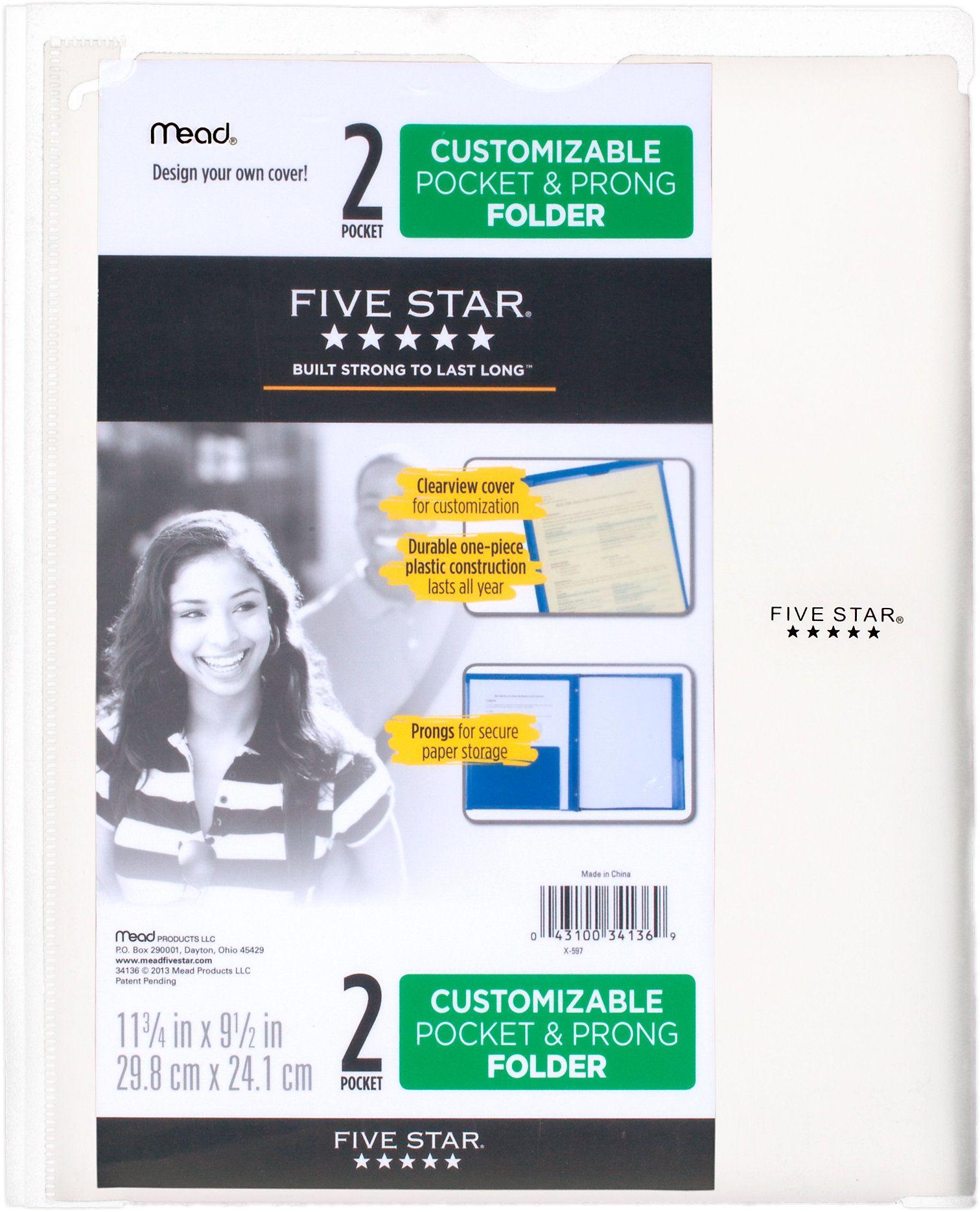 Customizable Pocket And Prong Plastic Folder