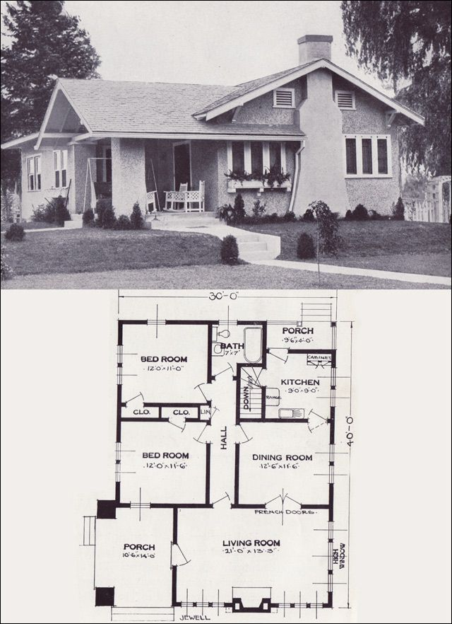 1923 standard homes company the jewell architecture for House plan companies