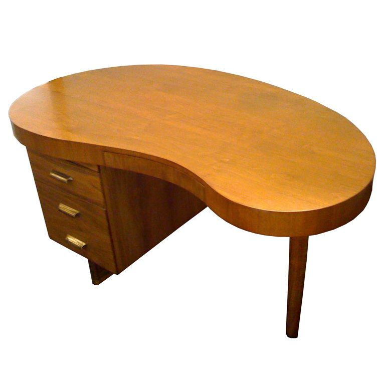 1stdibs 1940 S Kidney Shaped Desk By Gilbert Rohde Explore Items