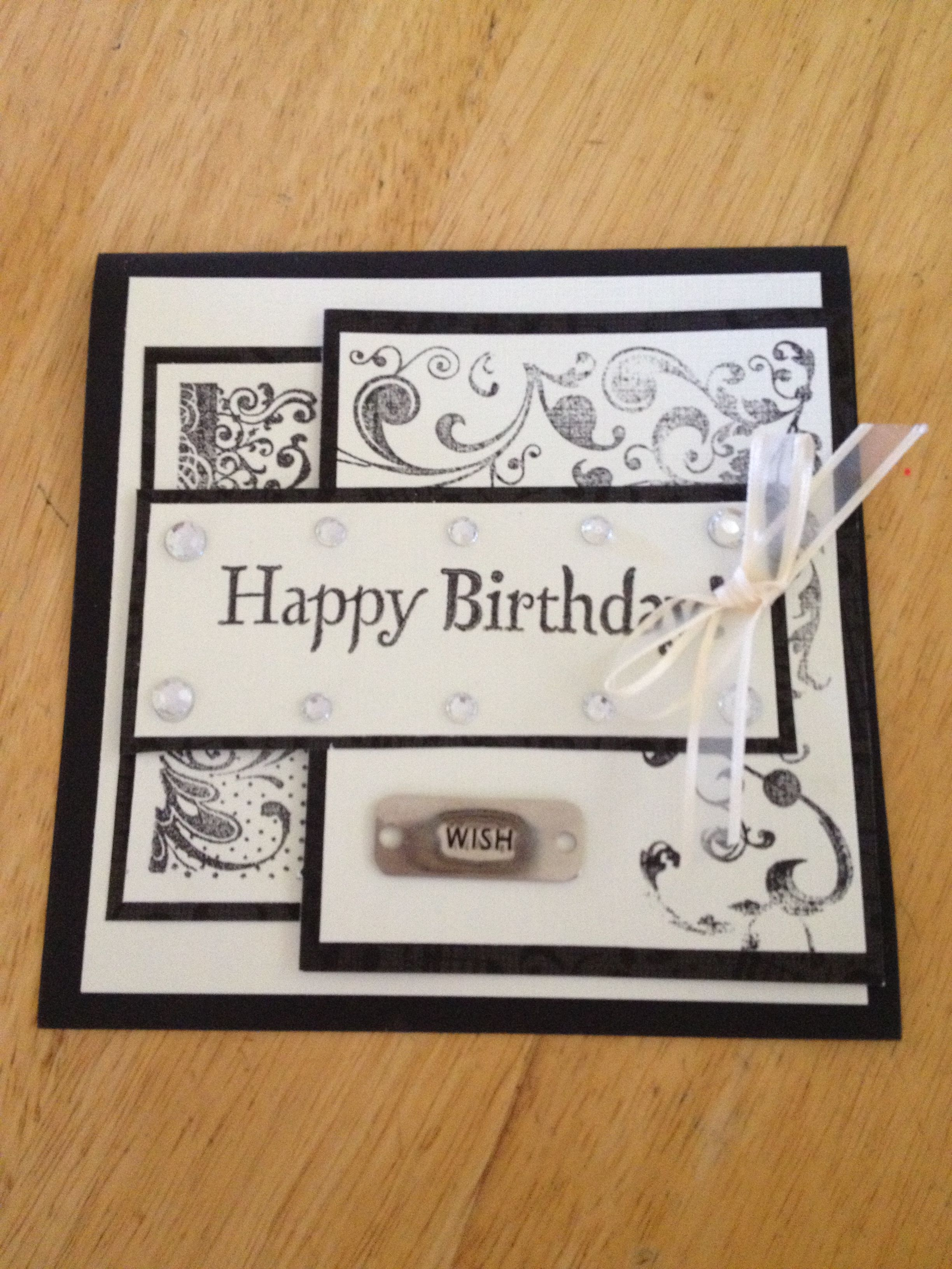 Birthday Handmade Card Idea From Pinterest Multilayered 3d With