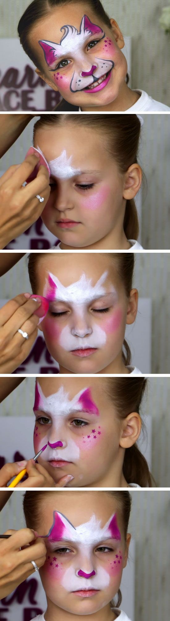 Easy Kitty Cat Diy Face Painting Ideas For Kids Easy Halloween