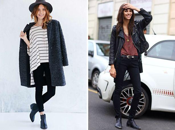 zwarte skinny jeans combineren