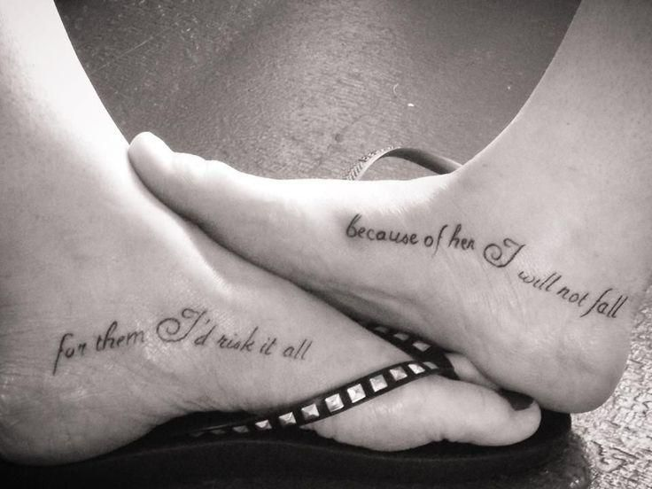 for them i.would risk it all tattoo | Mother Daughter Tattoos ...