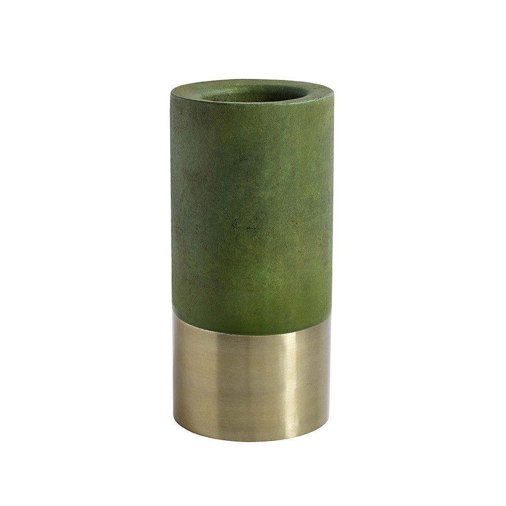 Discover the nordal bottom gold band candle holder green at amara
