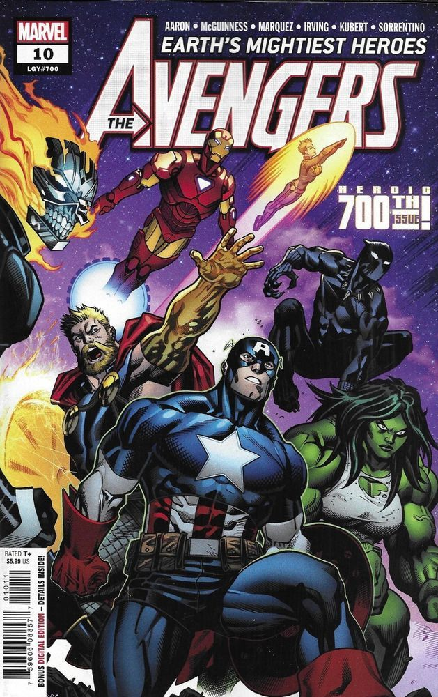 Avengers comic issue 10 limited variant mcguinness modern age first print 2019 imperial - Mechant avenger ...