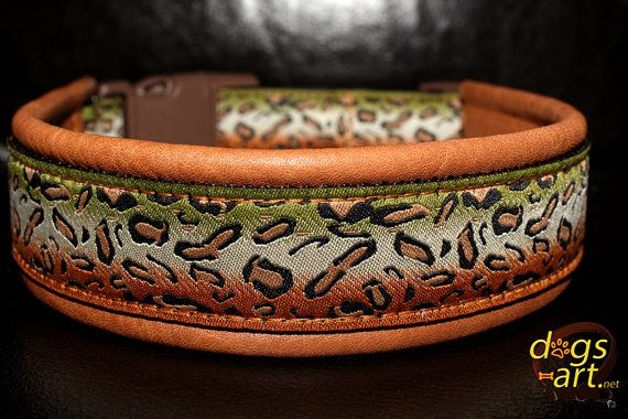 dogsart CHEETAH Easy Release Buckle Leather by dogsartcollars, $32.00