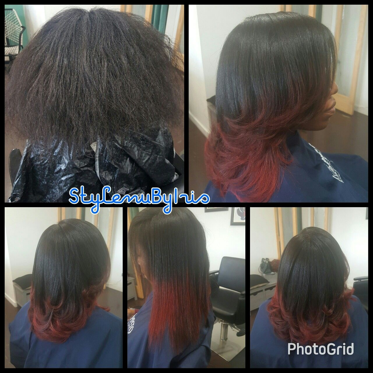 Color And Cut On Relaxer Free Hair My Work Stylenubyiris
