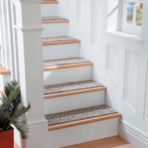 9 X 36 Scroll Washable Stair Treads Non Slip Carpet Set | 36 Carpet Stair Treads