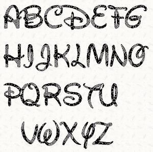 photo about Printable Letter Stencils Pdf titled Printable alphabet letter stencil: Walt Disney alphabet