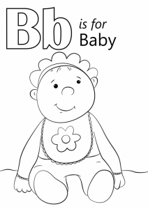 B For Baby Coloring Page Abc Coloring Pages Abc Coloring Alphabet Coloring Pages