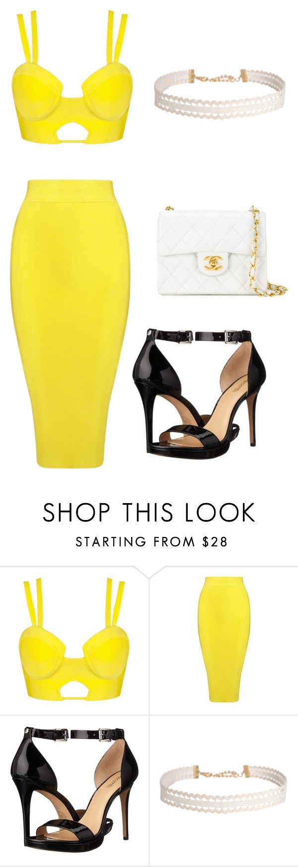 Yellow by dianamarierg on Polyvore featuring Posh Girl, MICHAEL Michael Kors, Chanel and Humble Chic