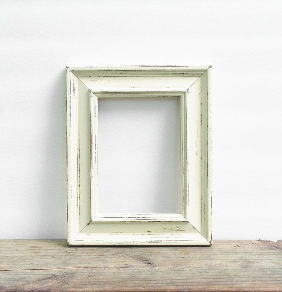 85x11 solid wood rustic picture frame distressed shabby chic custom sizes available