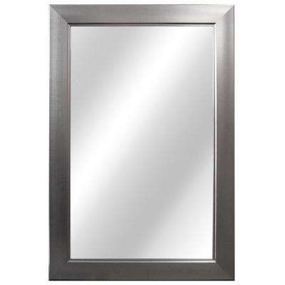 In W X In L Framed Fog Free Wall Mirror In Brushed - Brushed nickel wall mirror bathroom