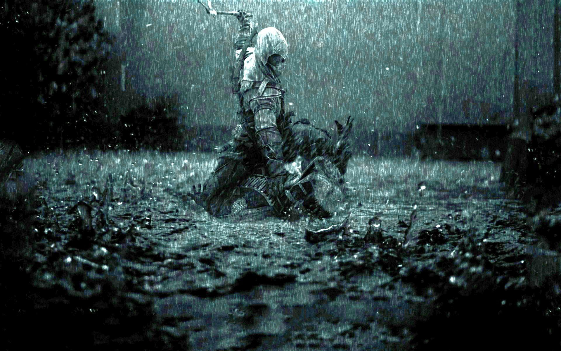 4k Rain Wallpaper 47 Images Rain Wallpapers Rain Art Assassins Creed Art