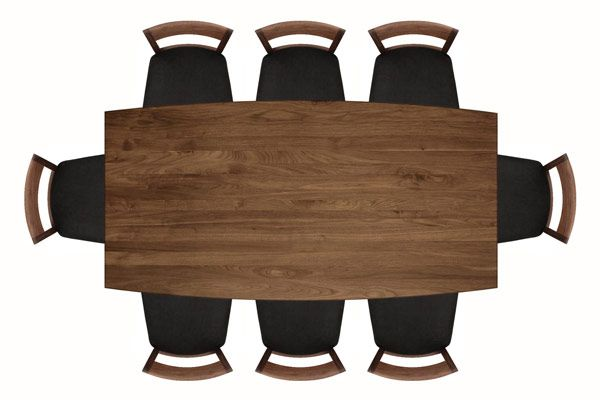 Copeland Catalina Large Walnut Extension Dining Table High End American Made Mid Century Modern Real Planta Baixa Humanizada Photoshop Espelhos Com Led