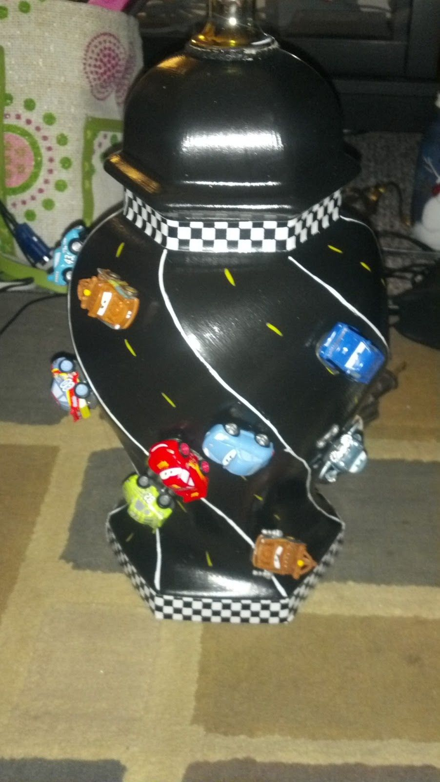 Fabulous U0027N Thirty: DIY Disney Cars Lamp