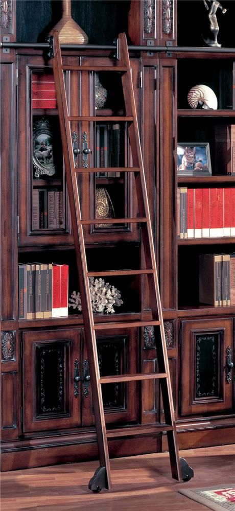 Da Vinci Library Ladder By Parker House   Riverview Galleries   Misc    Accessory Raleigh,. Book StorageStorage ShelvesParker HouseLibrary LadderChapel  Hill ...