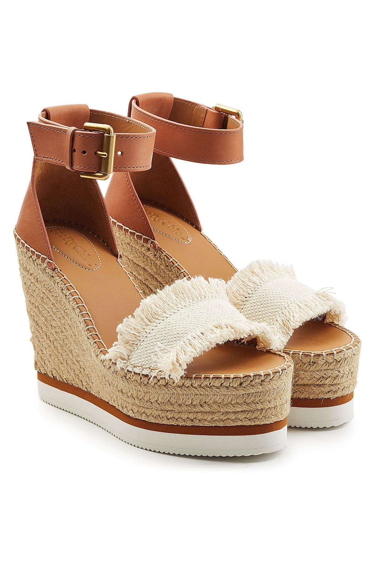 By Wedge With Leatherseebychloéshoes Sandals See Chloé pSqzMVU