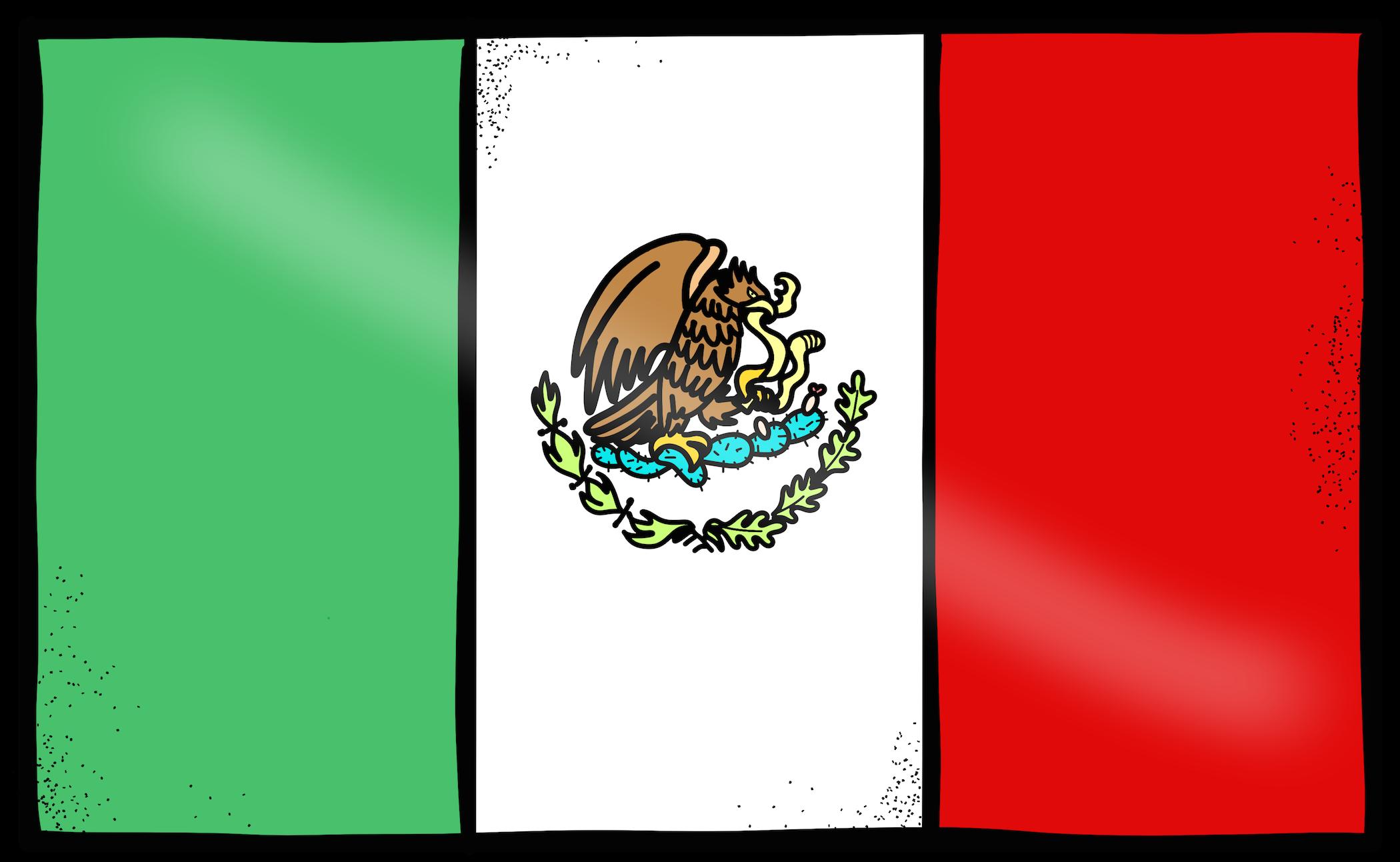 Bandera De Mexico Bandera De Mexico Dibujo Mexico Bandera Dia De La Bandera