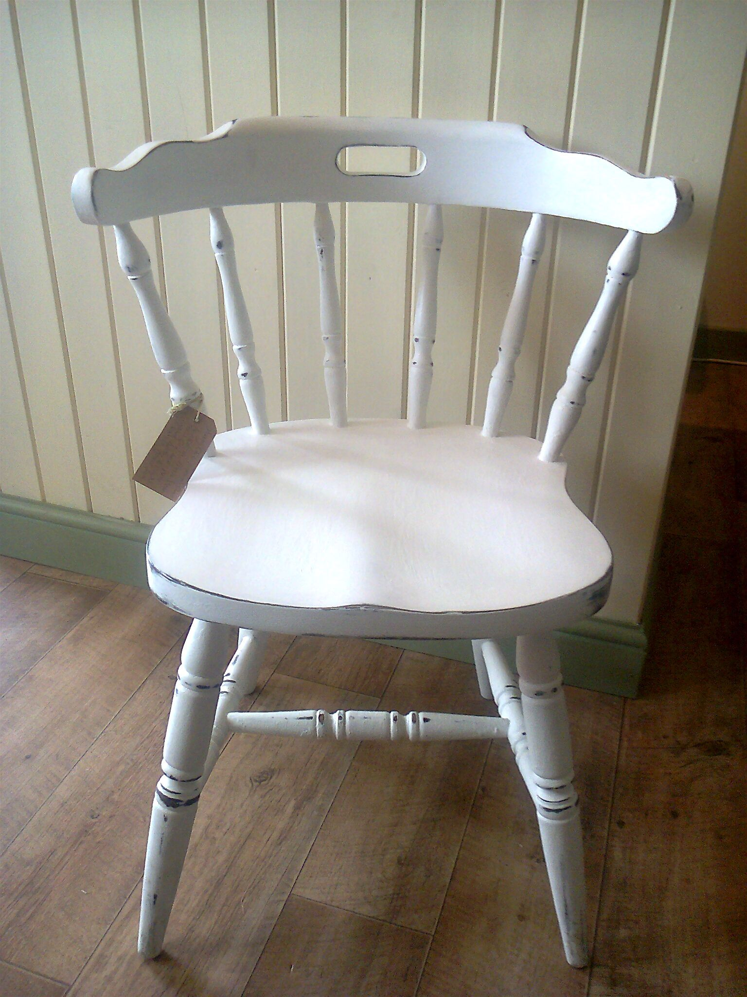 Schaukelstuhl Alt Shabby Chic Captains Chair Painted In Annie Sloan Pure