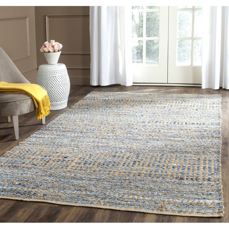 Bernd Handmade Flatweave Natural Blue Area Rug With Images