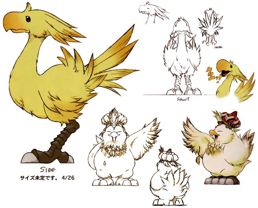 Chocobos ★ Character Design References Www Facebook